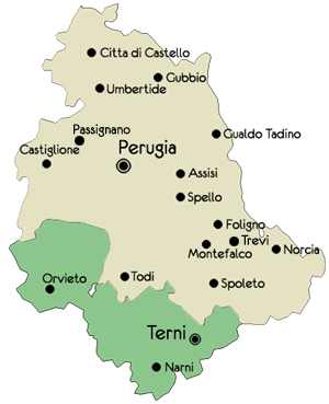 Map of Umbria Travel Umbria